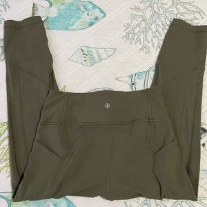 """Lululemon all the right places 21"""" crop tights"""